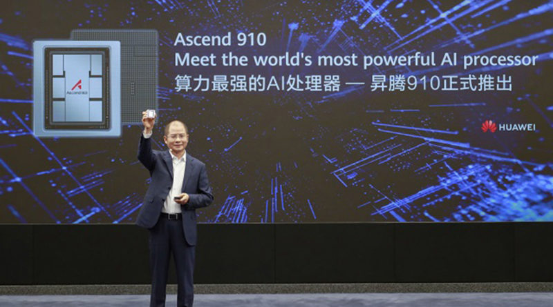 Huawei Launched Ascend 910 World's Most Powerful AI Processor